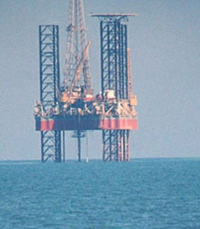 Oil Drilling Rig In the Ocean