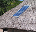 Solar Panel on Grass Hut